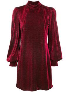 приталенное платье с металлическим отблеском Plein Sud