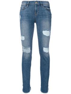 состаренные укороченные джинсы  Frame Denim
