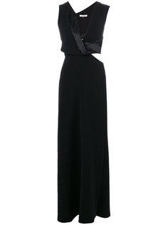приталенное платье макси  Halston Heritage