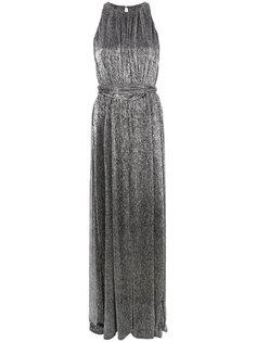 платье макси металлик Halston Heritage
