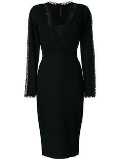 платье с длинными рукавами и кружевными панелями Ermanno Scervino