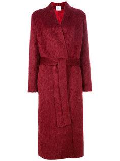 длинное пальто с поясом Agnona
