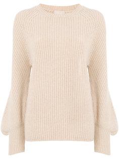 свитер в рубчик с рукавами клеш Drumohr