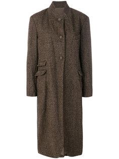 твидовое пальто на пуговицах  Daniela Gregis