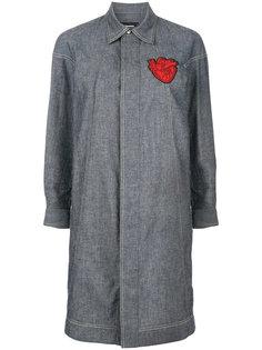 платье-рубашка с вышитым сердцем Dsquared2