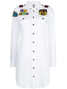 удлиненная рубашка с аппликациями Dsquared2