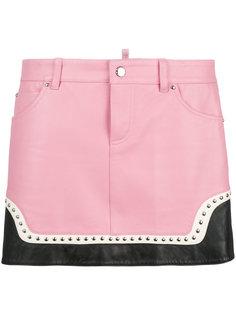 мини-юбка с заклепками Dsquared2