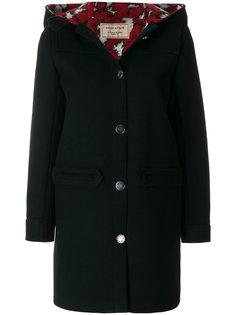 однобортное пальто Maison Kitsuné