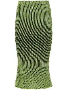 юбка в полоску Issey Miyake