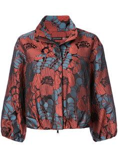 floral print cropped jacket Natori