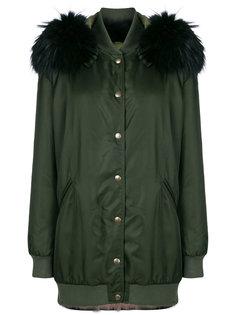 пальто с капюшоном и съемные воротником Mr & Mrs Italy