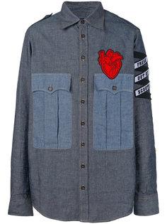 джинсовая рубашка с аппликацией Dsquared2