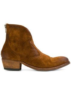 ковбойские ботинки на низком каблуке Pantanetti