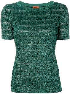 футболка в полоску с блестками Missoni