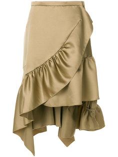 асимметричная юбка с оборками  Koche