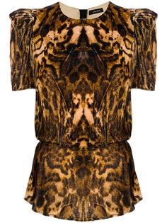 бархатная блузка Udell с леопардовым узором Isabel Marant