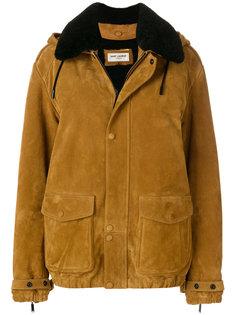 длинная куртка свободного кроя Saint Laurent