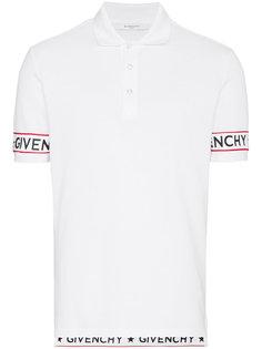 рубашка поло с логотипом на рукавах Givenchy