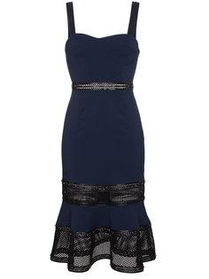платье на лямках с кожаными деталями с заклепками Jonathan Simkhai