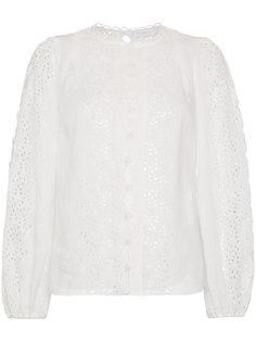 блузка с длинными рукавами с английской вышивкой Zimmermann