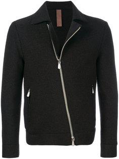 асимметричная приталенная куртка на молнии Eleventy