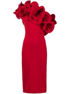 платье на одно плечо с оборкой Anett Osman