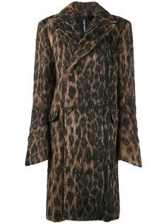 пальто с леопардовым принтом Y / Project