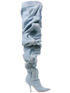 джинсовые ботфорты 110 с рюшами Y / Project
