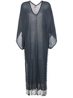 пляжное платье-кимоно с бахромой Caravana