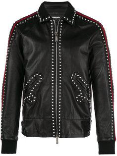 кожаная куртка с заклепками Dsquared2