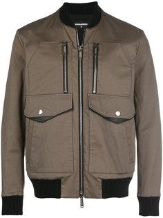 куртка-бомбер на молнии Dsquared2