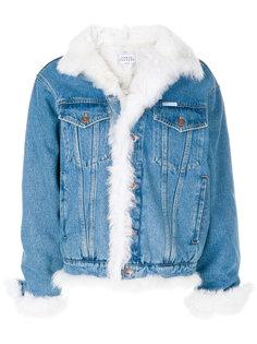 джинсовая куртка с отделкой под овчину Forte Couture