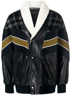 куртка-бомбер с контрастным дизайном Drome