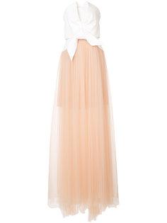 длинное платье с пышной юбкой Delpozo