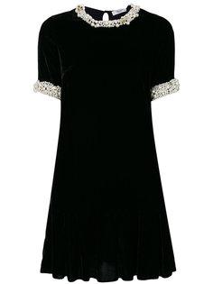 декорированное бархатное платье Blugirl