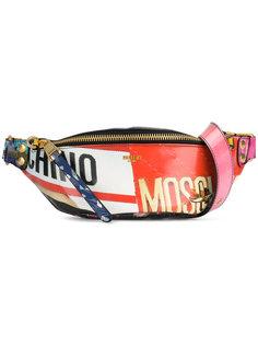 поясная сумка с оптическим принтом Moschino