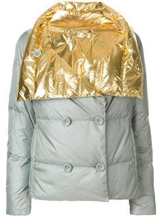 дутая куртка с контрастной вставкой  Diesel