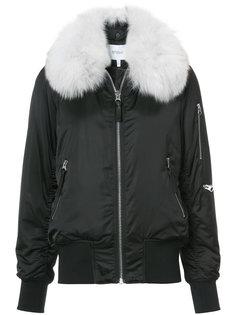 куртка-бомбер с меховым воротником Derek Lam 10 Crosby