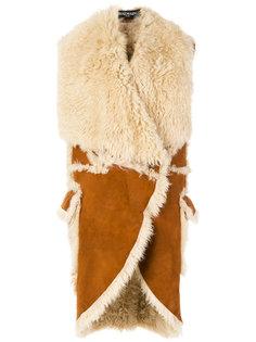 пальто без рукавов  Balmain