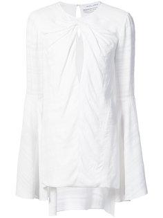 twist front keyhole blouse Prabal Gurung