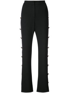 button embellished flared trousers Prabal Gurung