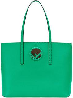 сумка-тоут с бляшкой с логотипом Fendi