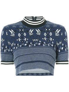 cropped knit top  Anna Sui