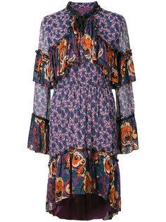high neck printed dress Anna Sui