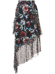 floral print asymmetric skirt Anna Sui