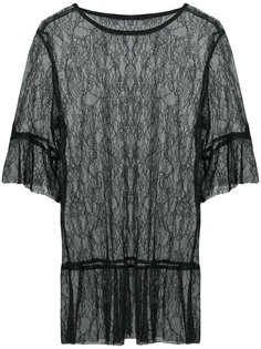 lace sheer blouse  Anna Sui