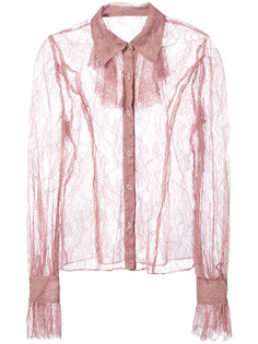 lace sheer shirt  Anna Sui