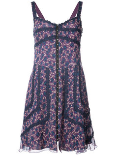 floral print swing dress Anna Sui