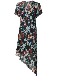 floral print asymmetric dress Anna Sui
