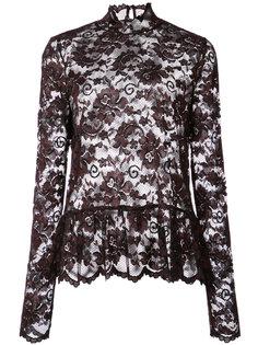 кружевная блузка с фестонами Ganni